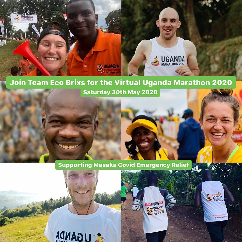 The Eco Brixs team participate in the Uganda Marathon 2020 run this weekend to support Masaka through the lockdown
