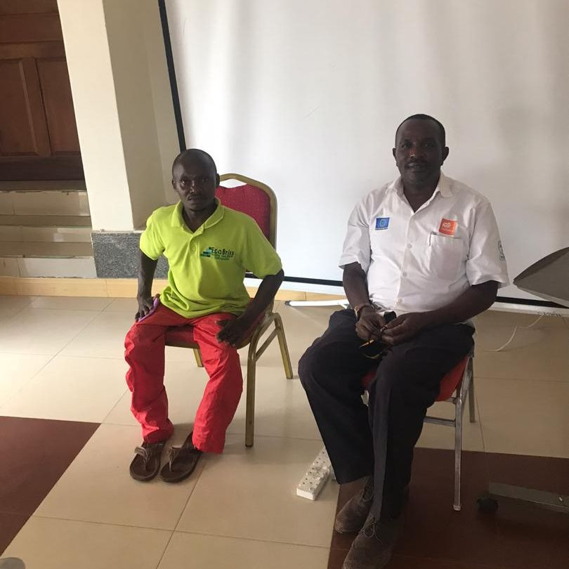 Mukalazi, representing Eco Brixsat a Disability Inclusion Training session organised by MADIPHA & ADD (Action on Disability & Development) International