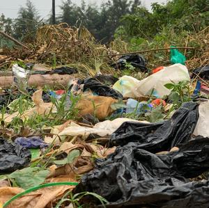 Plastic Waste littering Queen Elizabeth National Park