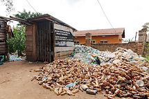Community Recycling Centre where plastic waste is collected