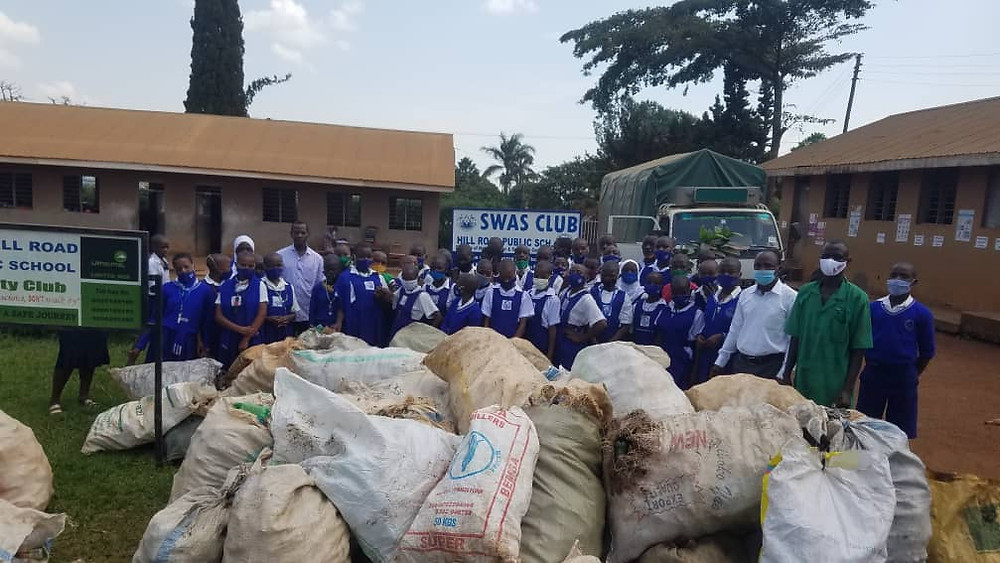 Schools are collecting plastic under our 'Plastic For Education' campaign to help pay for school fees following lockdown