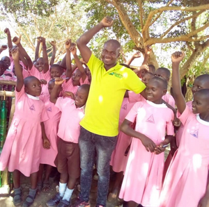 Johnson, our Operations Manager helps a new school set up an Eco Club in Masaka, Uganda