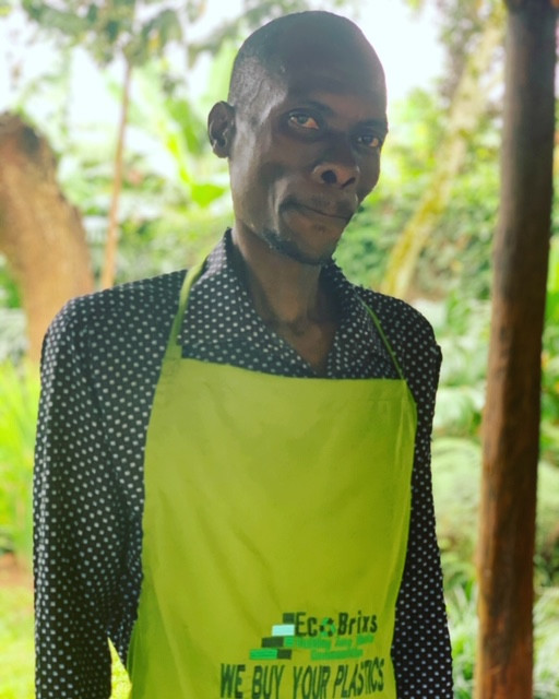 The manager of our new recycling centre in Entebbe