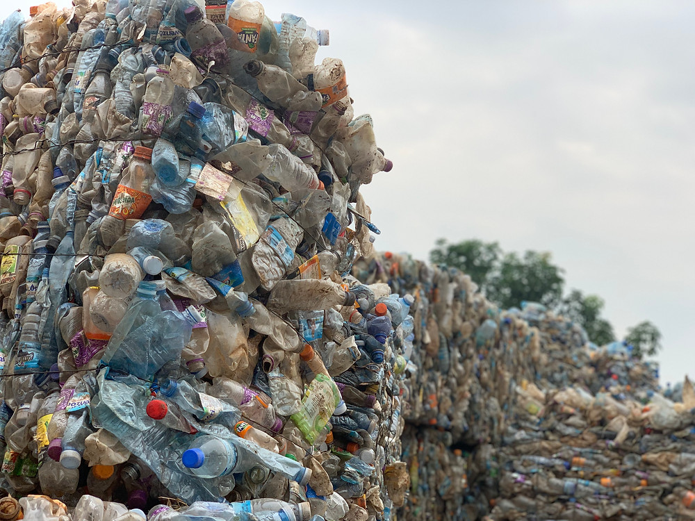 Just some of the plastic waste the 9 million bottles we've now recycled in Uganda!