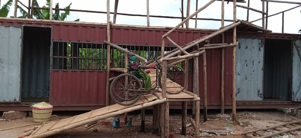A ramp at Eco Brixs headquarters to ensure the site is accessible for our disabled team members