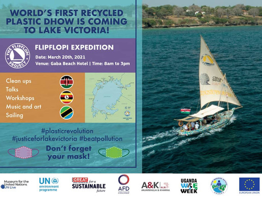 Eco Brixs attends the Flip Flopi Event at Lake Victoria