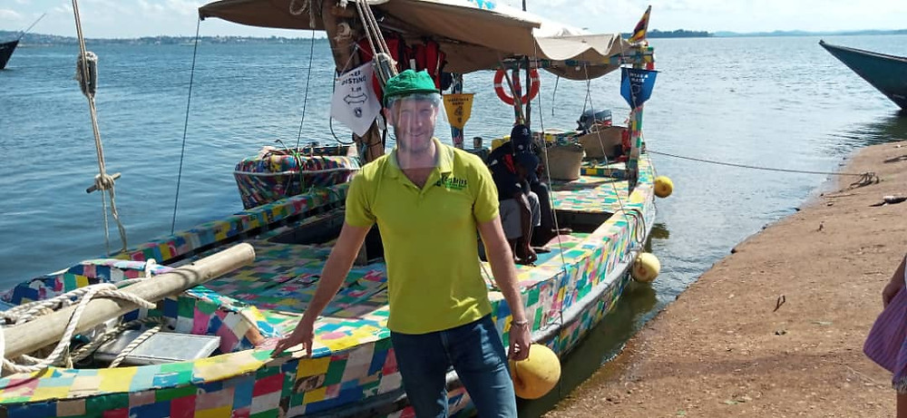 Andy Bownds Eco Brixs CEO by Flip Flopi's Dhow boat made from recycled plastic