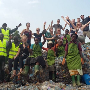 VIA volunteers from Germany visit Eco Brixs HQ to see how we recycle plastic