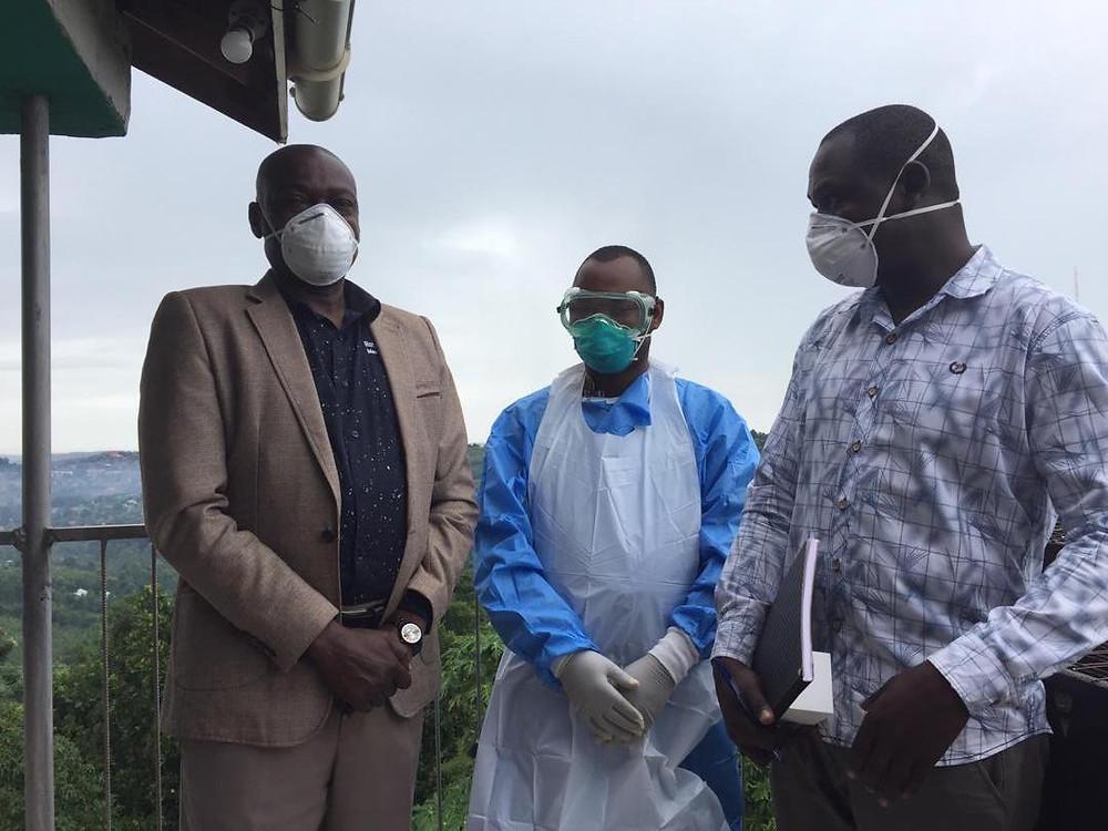 The Coronavirus testing team in Masaka