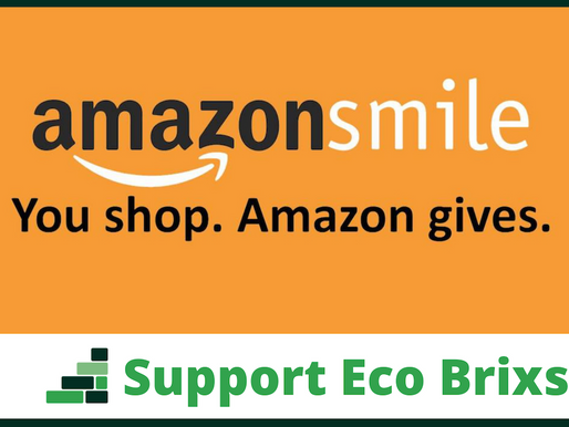 Eco Brixs now registered with Amazon Smile: support our work whilst shopping online