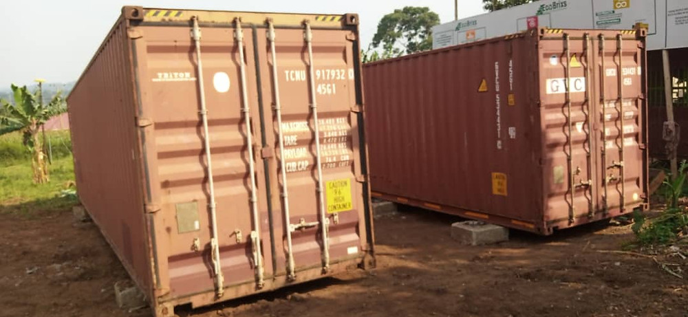 2 shipping containers to be converted into our new production lines for Eco-Products