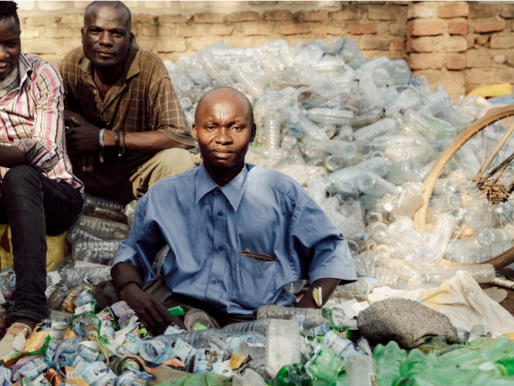 How much plastic does the average person use per month?