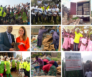 Climate Change Campaigns in Kenya and Kampala, meeting H.E. Ambassador Moto in London, and having visitors at Eco Brixs HQ
