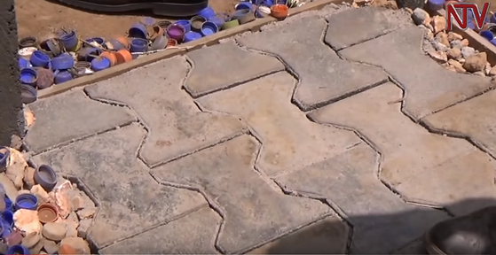 Plastic waste turned into our bricks and pavers