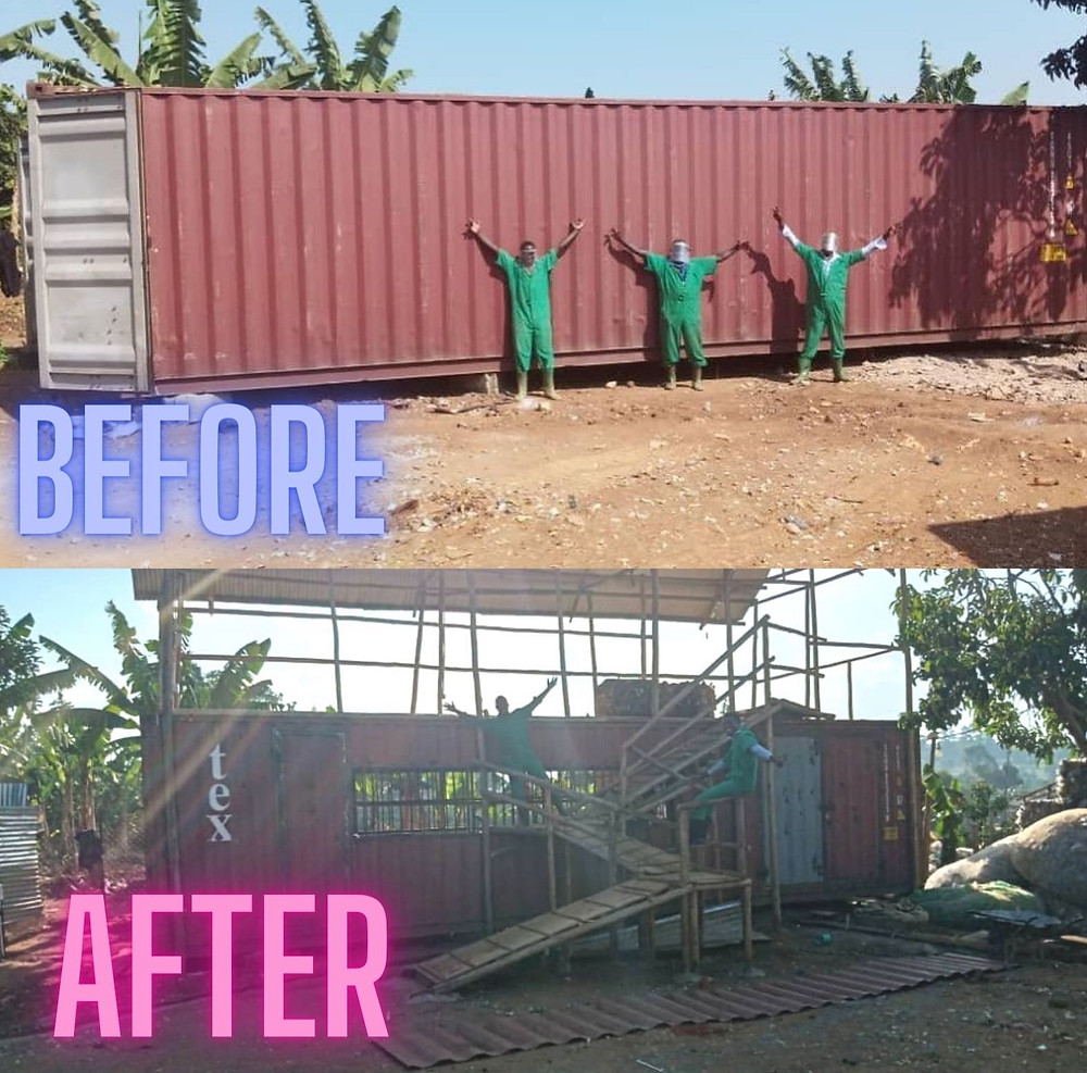 Eco Brixs creates a new factory building to recycle plastic waste by upcycling a shipping container