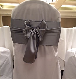 white chair cover with silver sash_edite