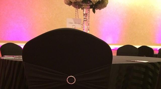 A classy affair #blackchaircovers, #rhin