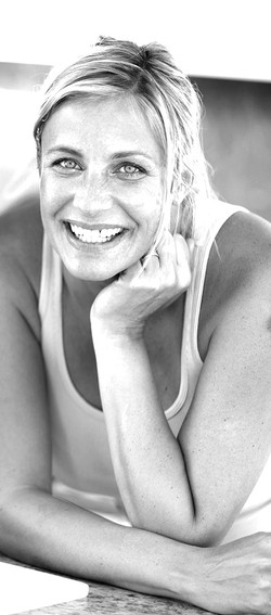 Woman Smiling B&W