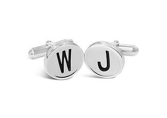 Orion Joel Custom Jewellery - Silver rope and anchor cufflinks