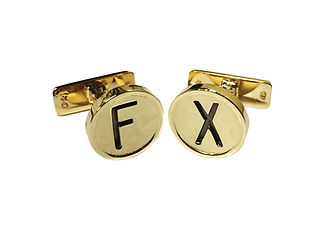 Orion Joel Custom Jewellery - Old vintage typewriter key cufflinks