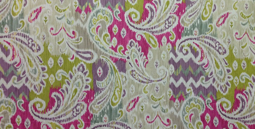 Splash of Color Fabric - Paisley  - Pink  - Purple - Green