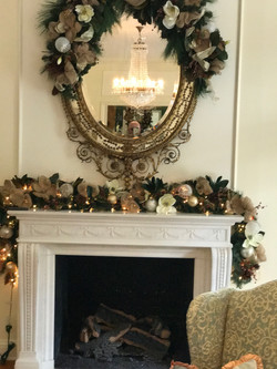 Living Room Mantle and Mirror
