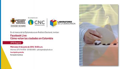 Cómo votan las ciudades en Colombia
