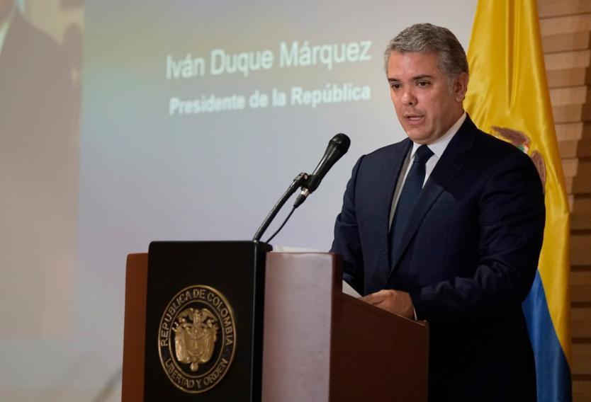 Baja Imagen del presidente Iván Duque