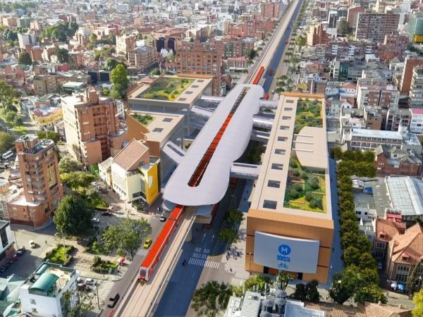 Render de cómo se vería el Metro en Bogotá