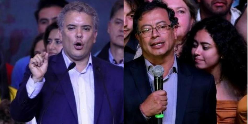 Iván Duque y Gustavo Petro.