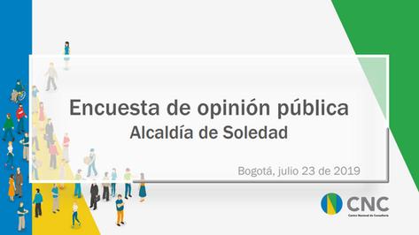 Encuesta de opinión pública Alcaldía de Soledad