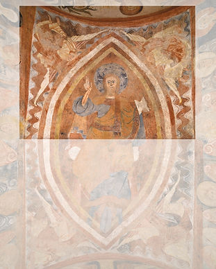 Christ Pantocrator held by four Angels,