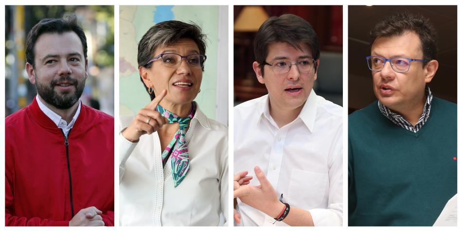 Encuesta 'CM&' y CNC: Galán 34 %, López 26 %, Uribe 13 % y Morris 12 %