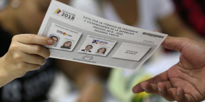 Segunda vuelta presidenciales Colombia