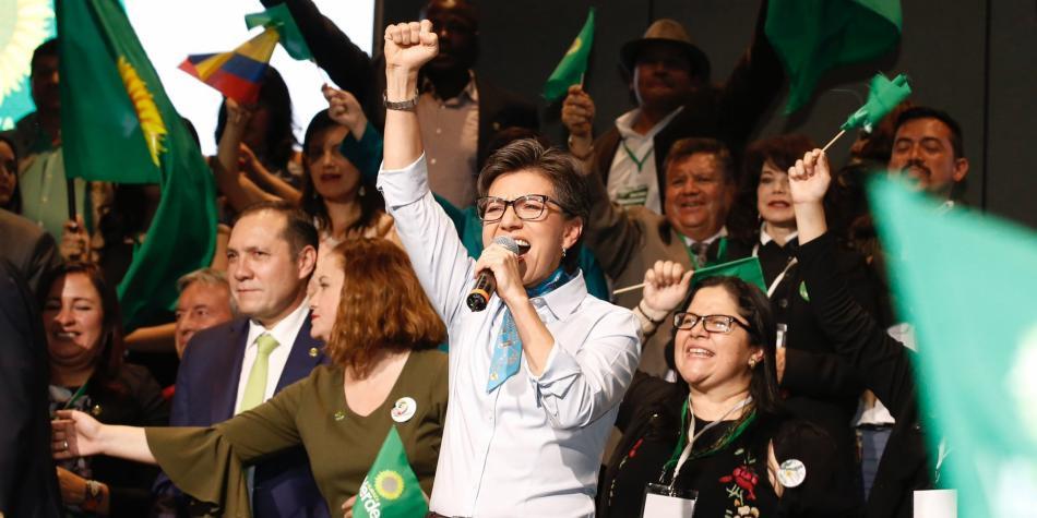 Claudia López fue elegida este jueves como la candidata presidencial de Alianza Verde para el 2018.