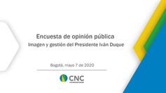 Encuesta de opinión pública imagen y gestión del Presidente Iván Duque