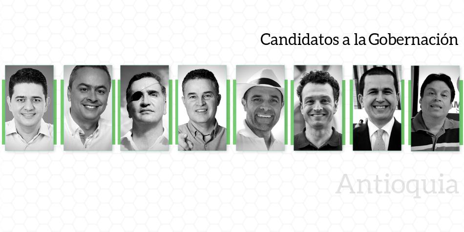 Candidatos a la Gobernación de Antioquia
