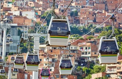 Foto: Metrocable Nuevo Occidente, San Javier - La Aurora, Medellin, Antioquia, Colombia/Getty.