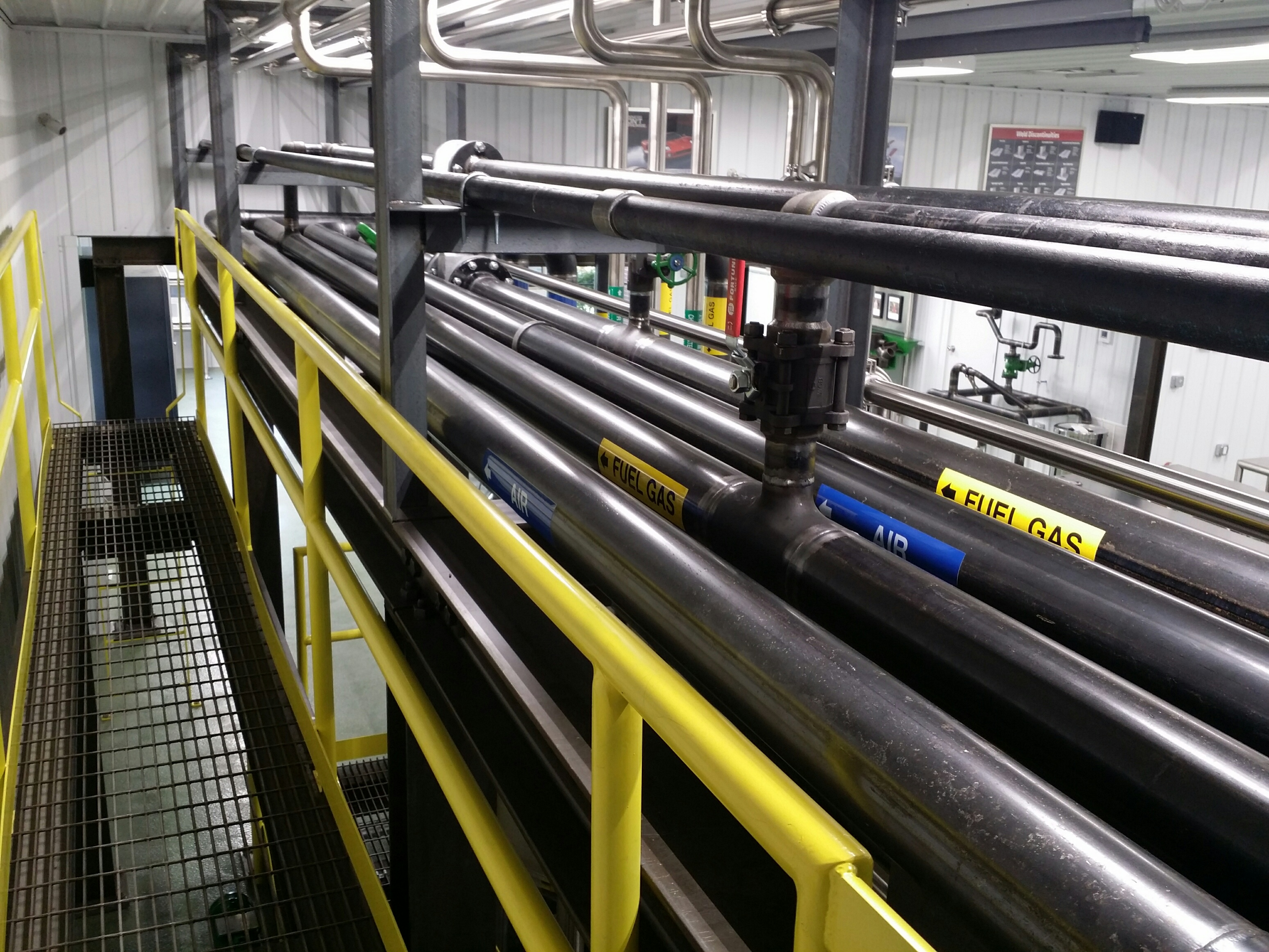 Image of numerous black pipes