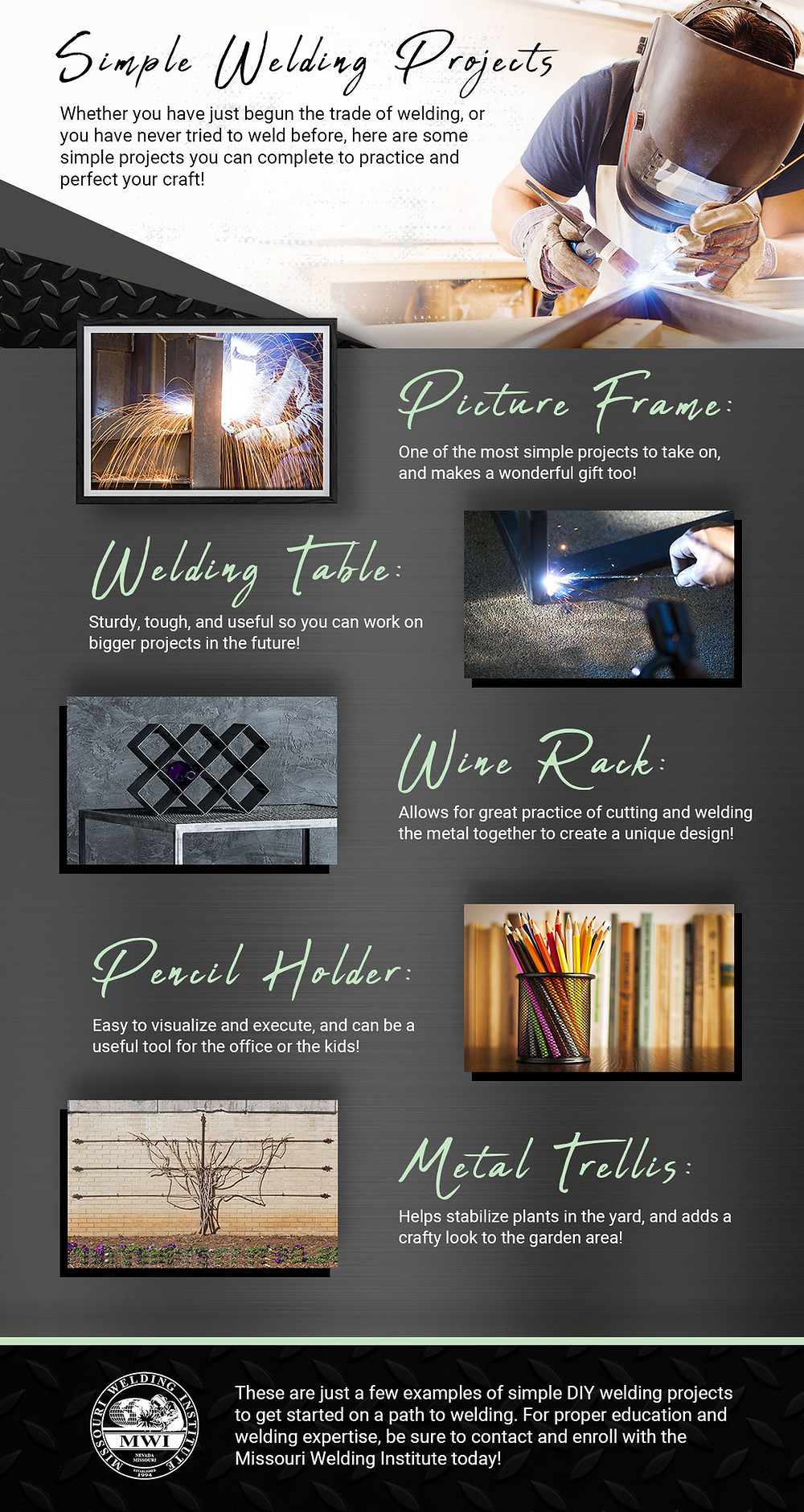 Simple Welding Projects Infographic