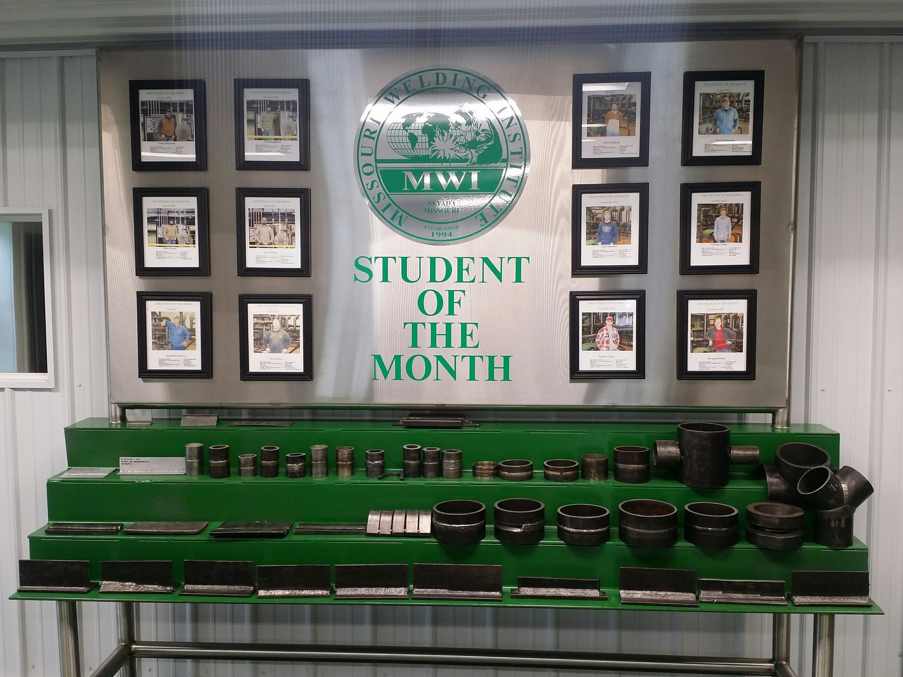 Image of MWI Student of the month board