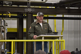 Image of welder giving a speech