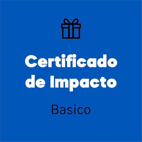 Certificado de impacto (Básico)