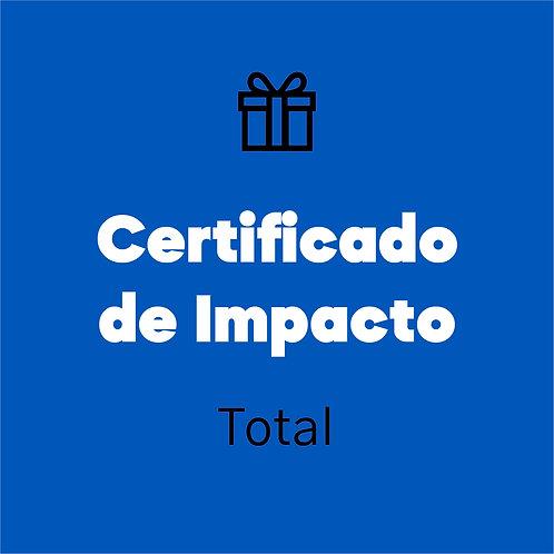Certificado de impacto (Total)