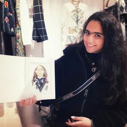 Live Sketching at Dior Sloane Street