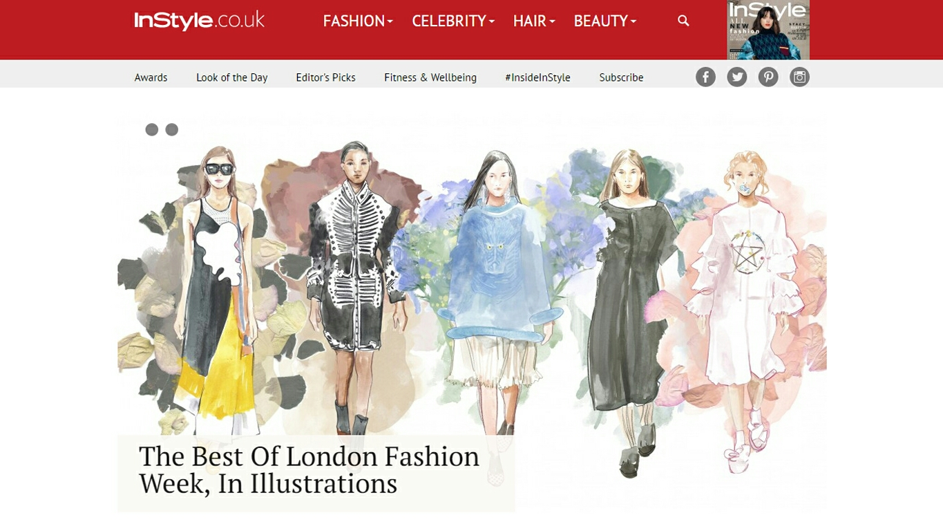 London Fashion Week SS17 for InStyle Uk