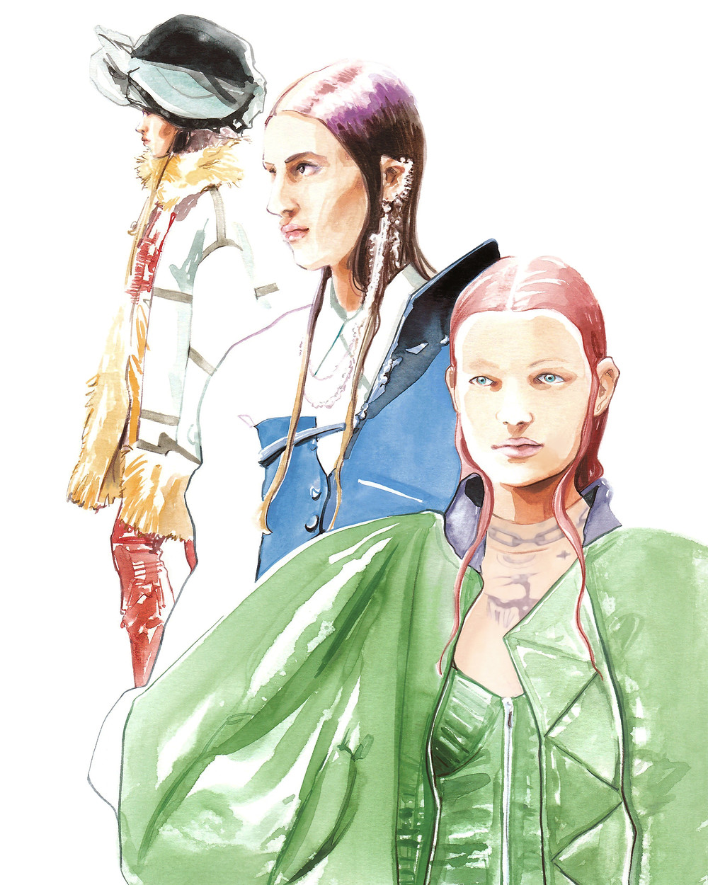The much-awaited Jean Paul Gaultier Haute Couture collection ft. Sacai