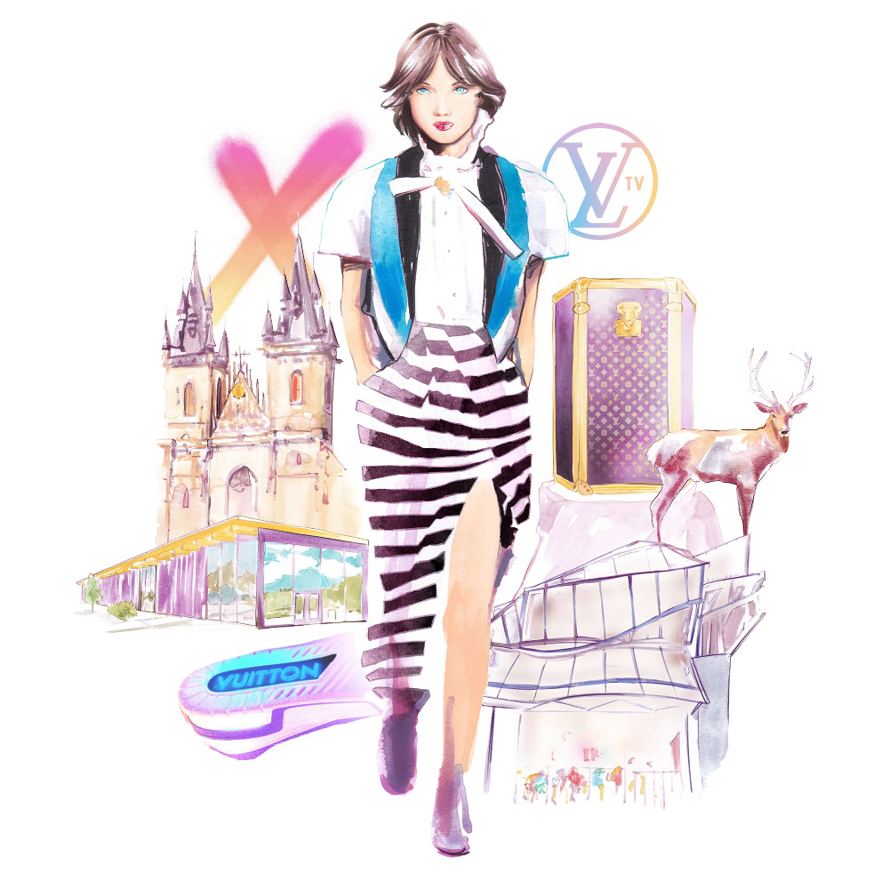 Corporate Illustration for Louis Vuitton - 2019