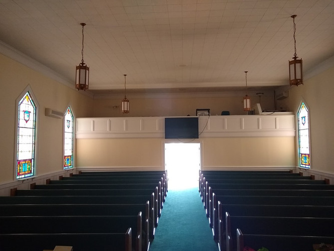 We have new pews