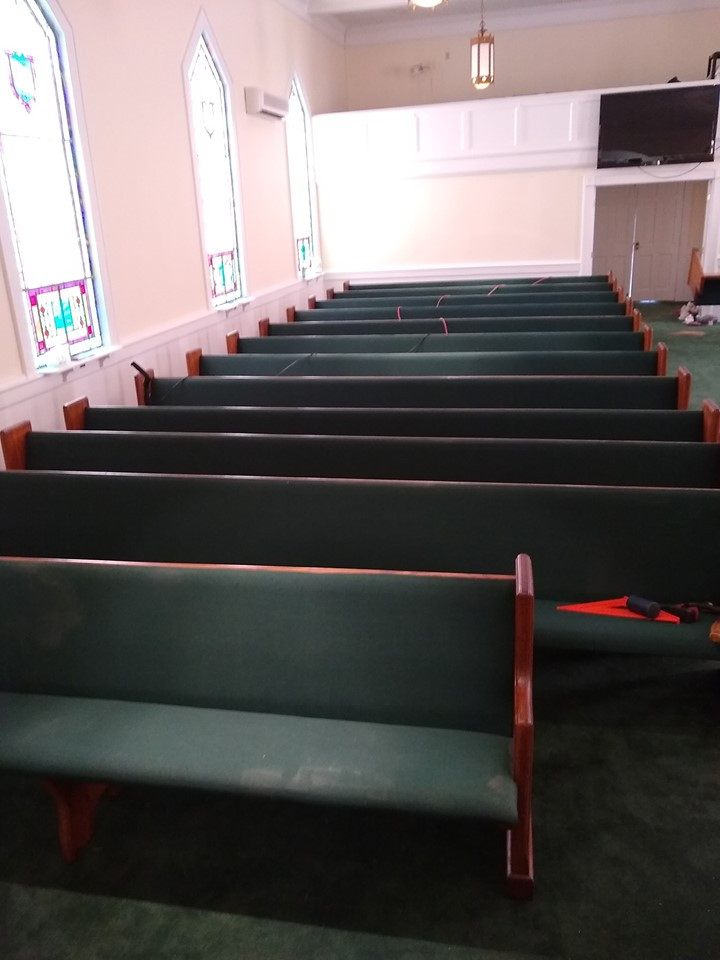 Our new pews